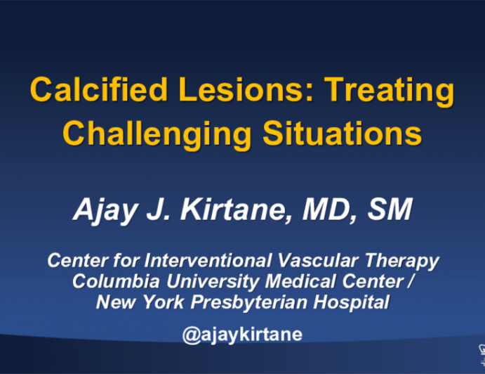 Calcified Lesions: Treating Challenging Situations