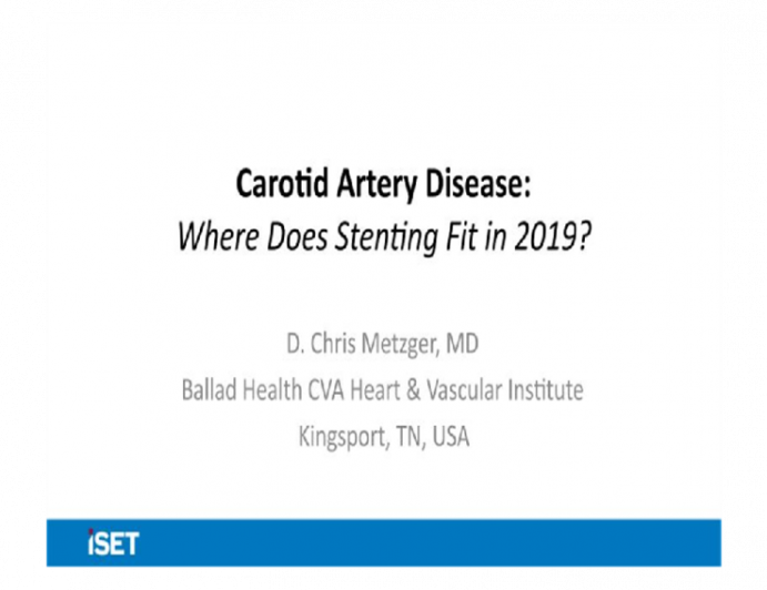 Carotid Artery Disease: Where Does Stenting Fit in 2019?