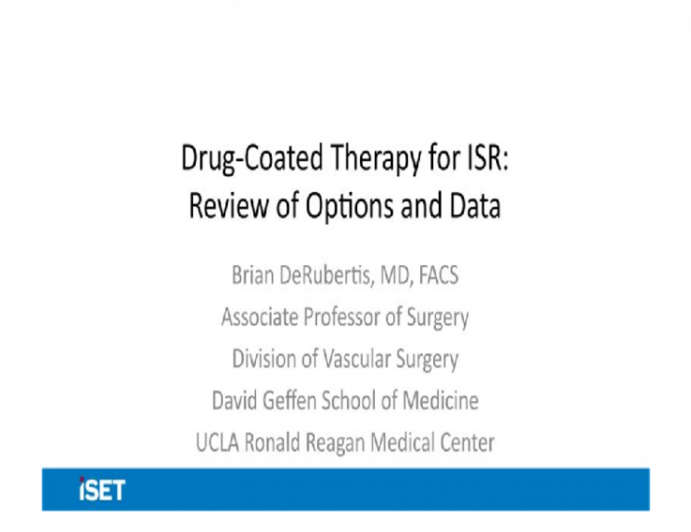 Drug-Coated Therapy for ISR: Review of Options and Data