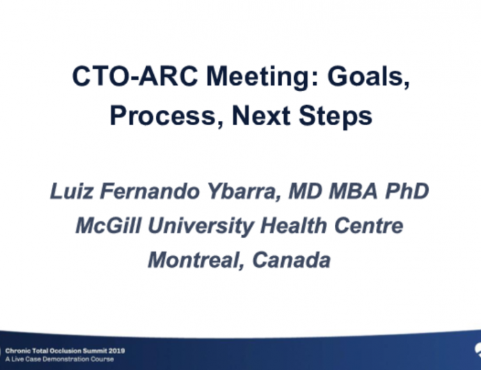 Inaugural CRF Sponsored CTO-ARC Meeting: Goals, Process, Next Steps