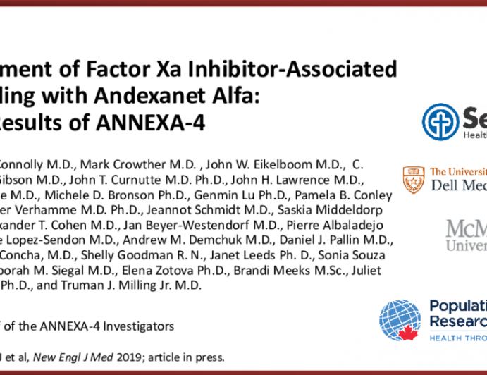 Treatment of Factor Xa Inhibitor-Associated Bleeding with Andexanet Alfa: Full Results of ANNEXA-4