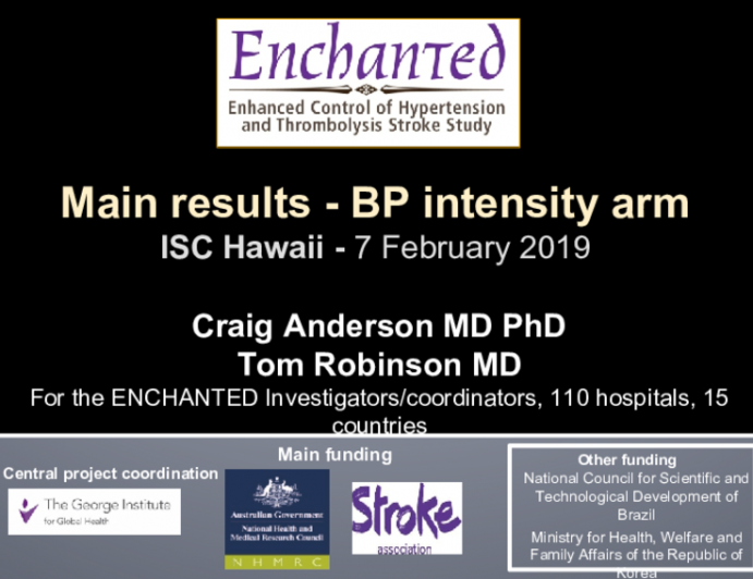Main results - BP intensity arm