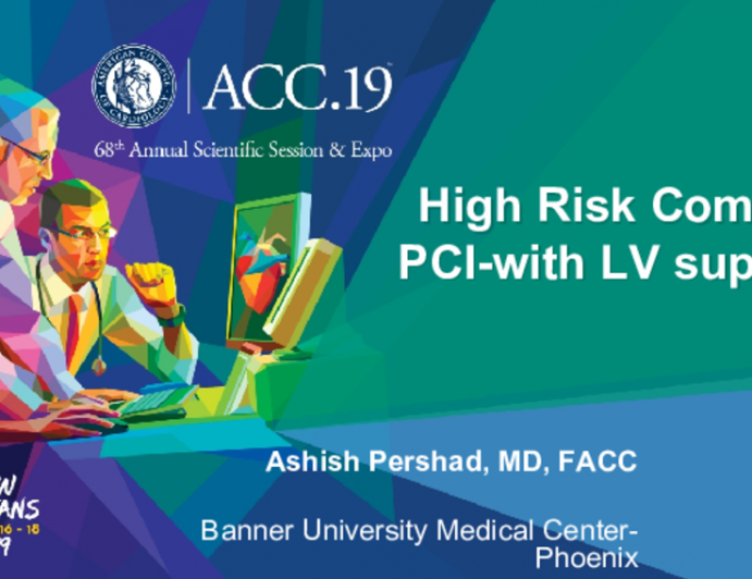 High Risk Complex PCI-with LV support