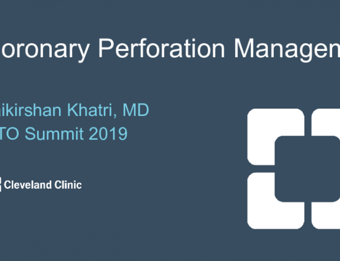 Coronary Perforation and Management