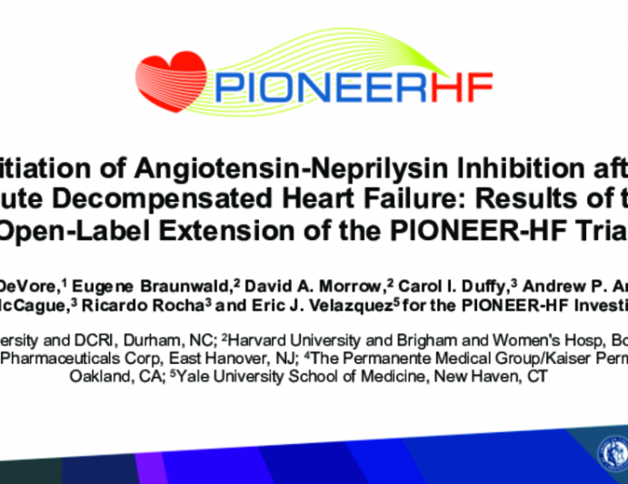 Initiation of Angiotensin-Neprilysin Inhibition after Acute Decompensated Heart Failure: Results of the Open-Label Extension of the PIONEER-HF Trial