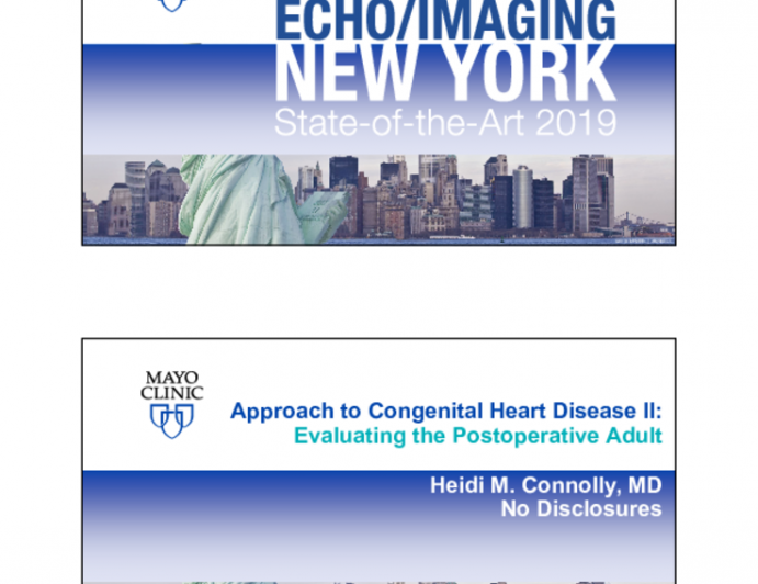 Approach to Congenital Heart Disease II: Evaluating the Postoperative Adult