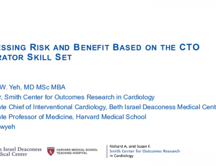 Assessing Risk and Benefit Based on the CTO Operator Skill Set
