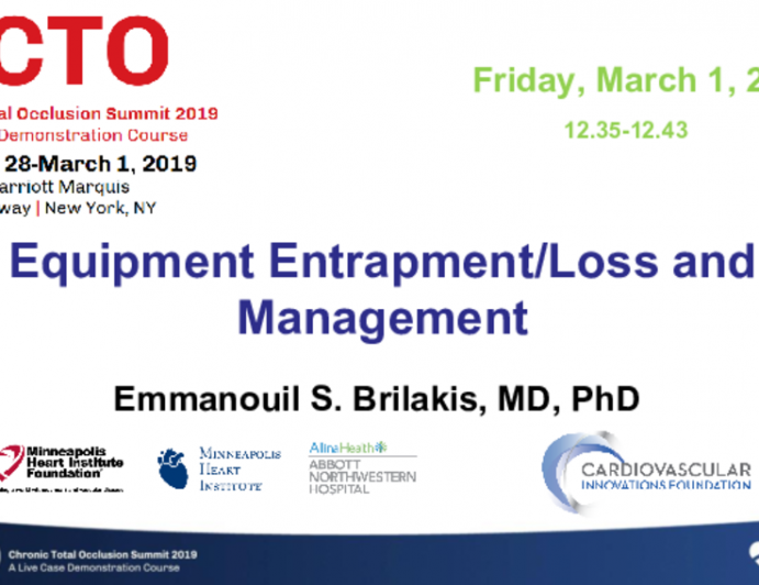 Equipment Entrapment/Loss and Management