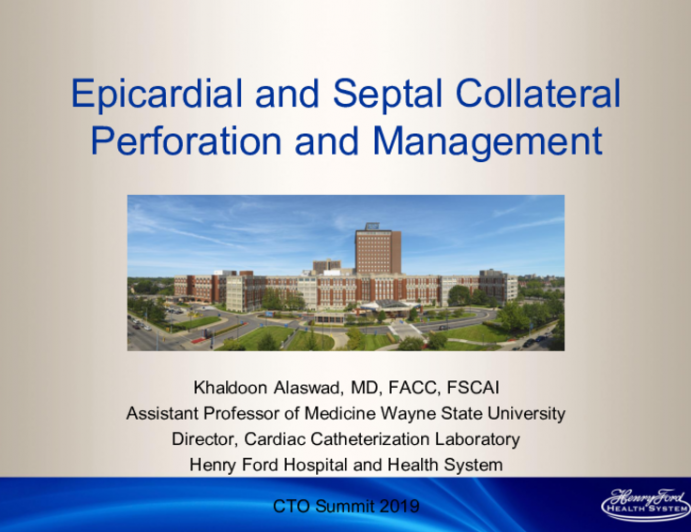 Epicardial and Septal Collateral Perforation and Management
