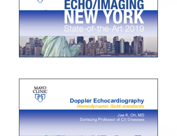 Doppler Echocardiography Hemodynamic Gold-standards