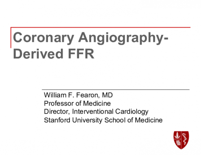 Coronary Angiography - Derived FFR