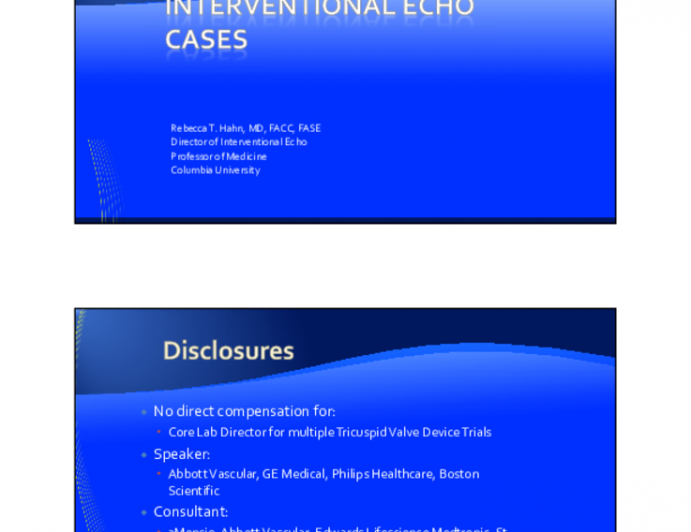 Interventional Echo Cases