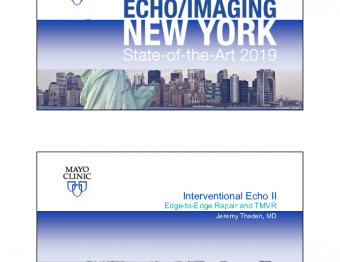 Interventional Echo II - Edge-to-Edge Repair and TMVR