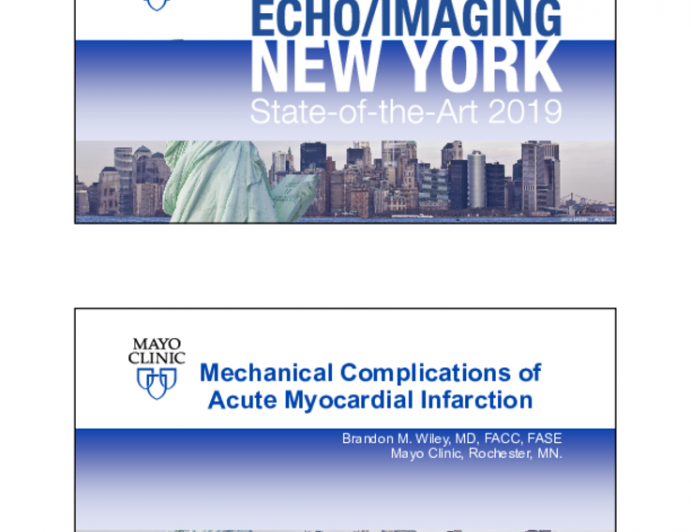 Mechanical Complications of Acute Myocardial Infarction