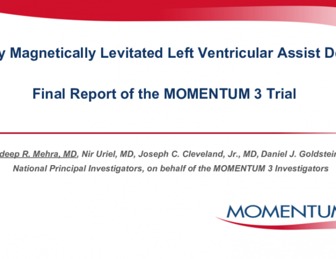 A Fully Magnetically Levitated Left Ventricular Assist Device: Final Report of the MOMENTUM 3 Trial