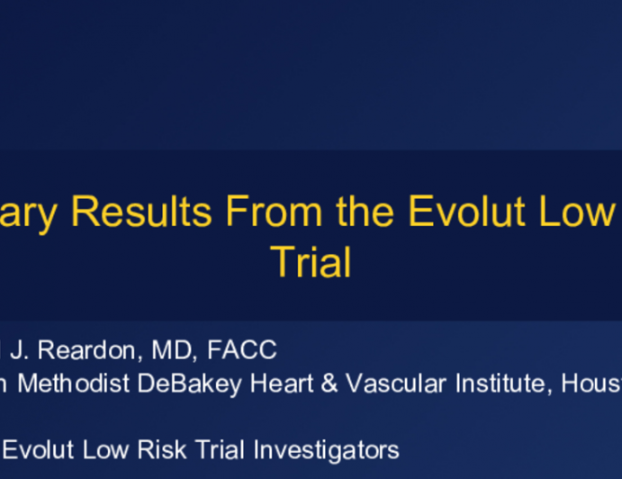 Primary Results From the Evolut Low Risk Trial