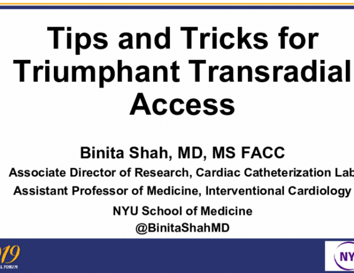 Tips and Tricks for Triumphant Transradial Access