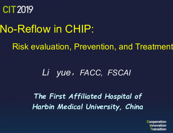 No-Reflow in CHIP: Risk evaluation, Prevention, and Treatment