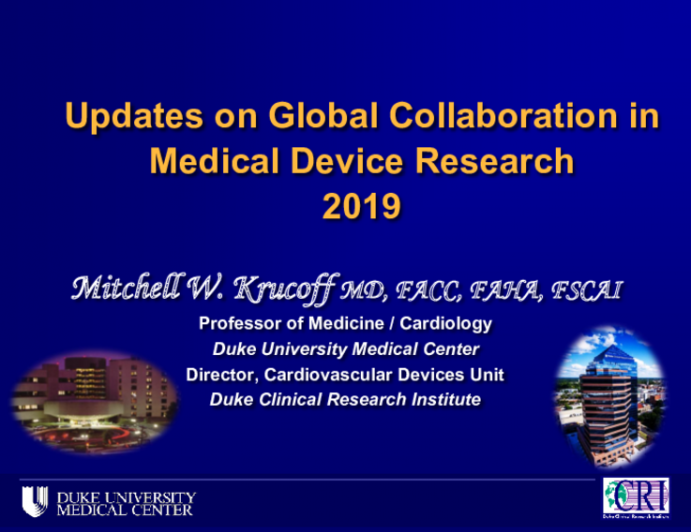 Updates on Global Collaboration in Medical Device Research2019