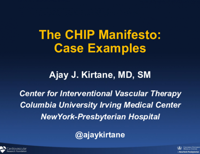 The CHIP Manifesto:Case Examples