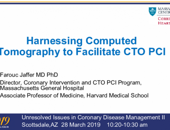 Harnessing Computed Tomography to Facilitate CTO PCI