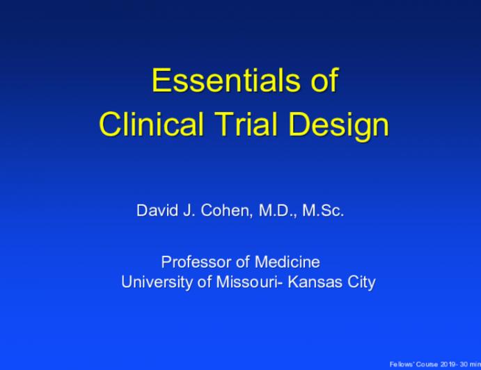 Essentials of Clinical Trial Design