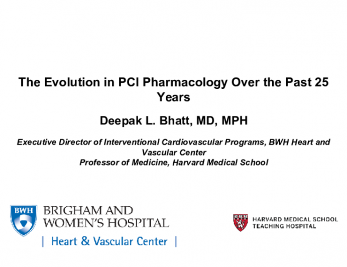 The Evolution in PCI Pharmacology Over the Past 25 Years