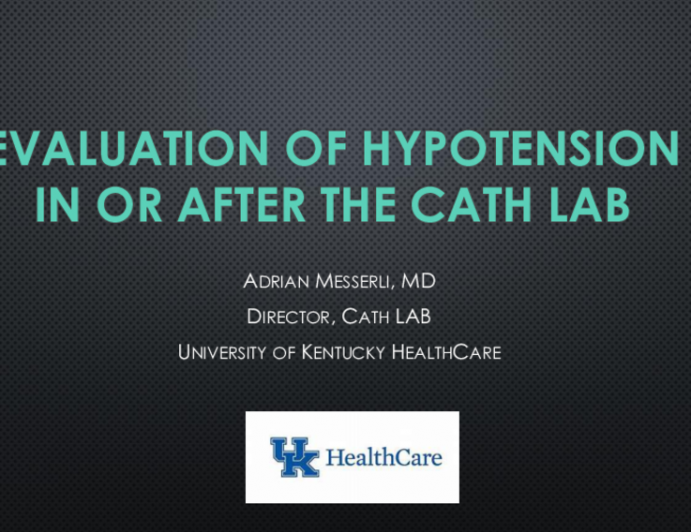 Evaluation of Hypotension in or after the Cath Lab