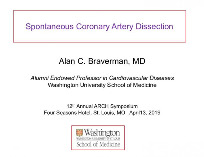 Spontaneous Coronary Artery Dissection