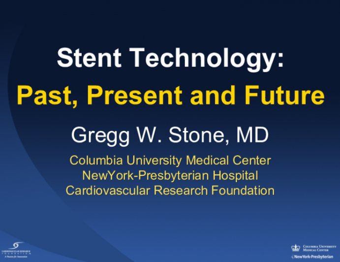 Stent Technology:Past, Present and Future