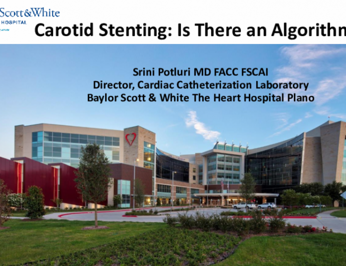 Carotid Stenting: Is There an Algorithm