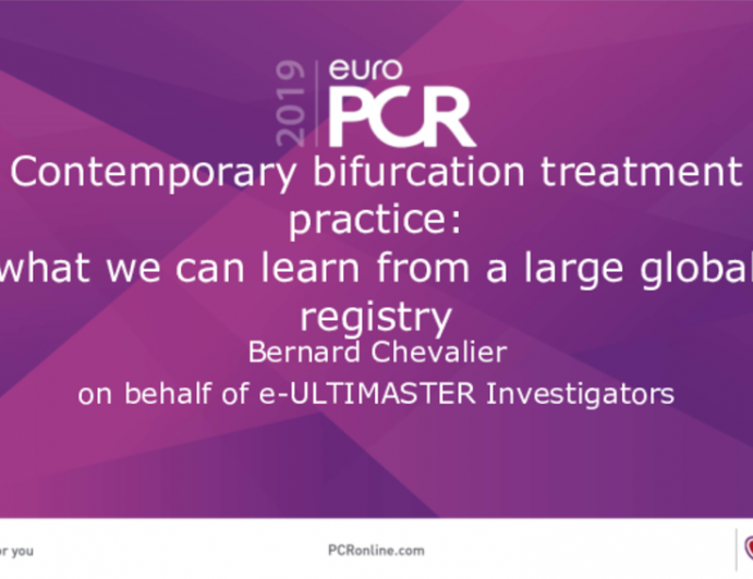 Contemporary bifurcation treatment practice:what we can learn from a large global registry