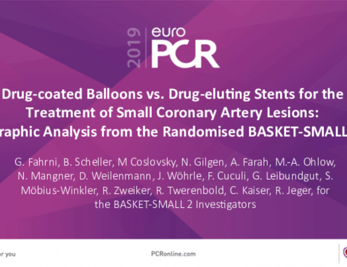 Drug-coated Balloons vs. Drug-eluting Stents for theTreatment of Small Coronary Artery Lesions:Angiographic Analysis from the Randomised BASKET-SMALL 2 Trial