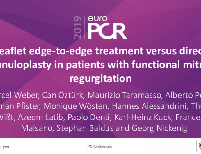 Leaflet edge-to-edge treatment versus direct annuloplasty in patients with functional mitral regurgitation