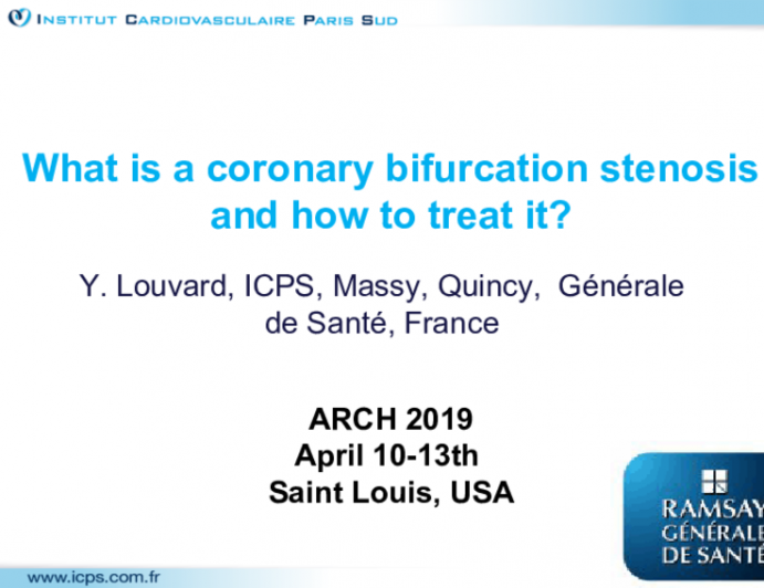 What is a coronary bifurcation stenosis and how to treat it?