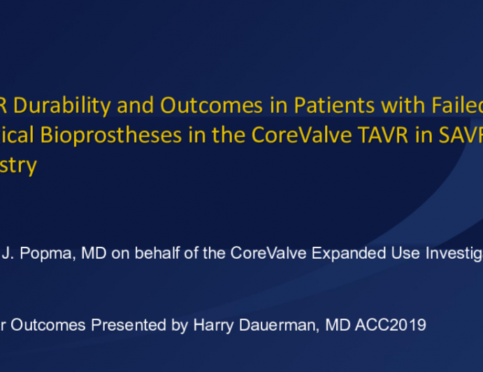 Updates From the CoreValve and EVOLUT R Aortic VIV Registries