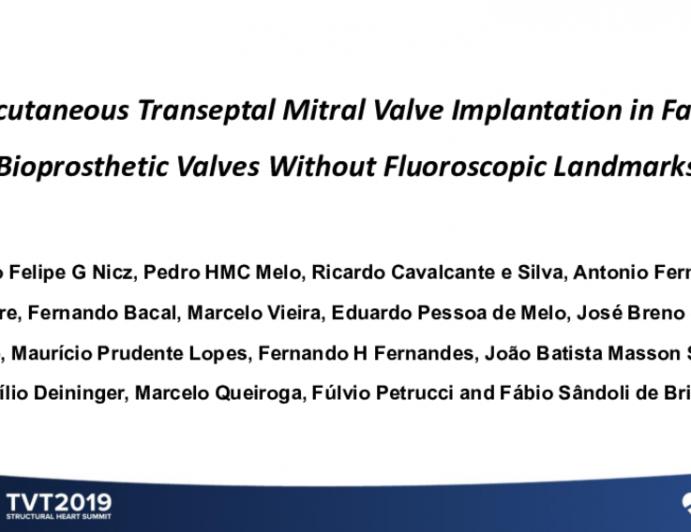 Percutaneous Transeptal Mitral Valve Implantation in Failed Bioprosthetic Valves Without Fluoroscopic Landmarks