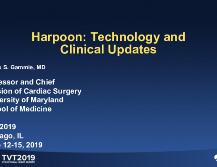 Harpoon Transapical: Technology and Clinical Updates