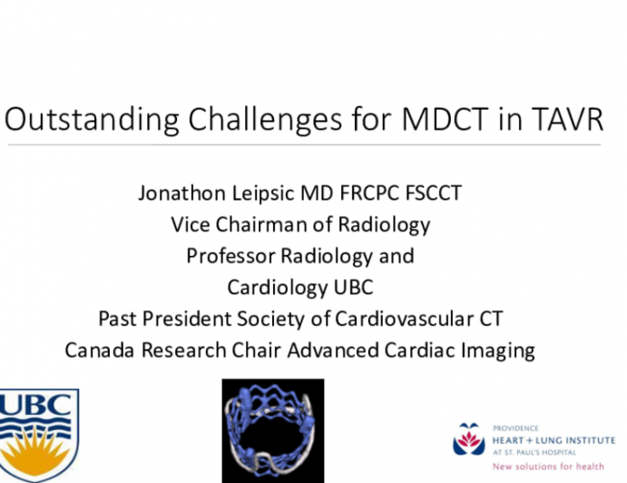 Plenary Lecture: Are There Still Imaging Challenges for TAVR?