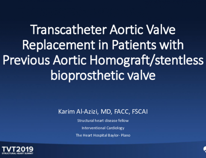 Transcatheter Aortic Valve-in-Valve in Patients With Previous Homograft