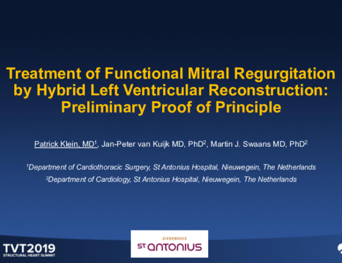 Treatment of Functional Mitral Regurgitation by Hybrid Left Ventricular Reconstruction: Preliminary Proof of Principle