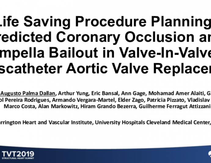 Life-Saving Procedure Planning: Predicted Coronary Occlusion and ImpellaBailoutin Valve-in-Valve Transcatheter Aortic Valve Replacement