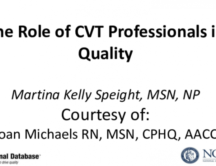 TVT Registry: The Role of CVT Professionals in Quality