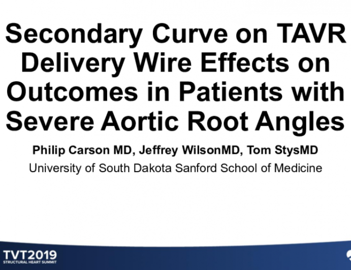 Secondary Curve on TAVR Delivery Wire Effects on Outcomes in Patients With Severe Aortic Root Angles