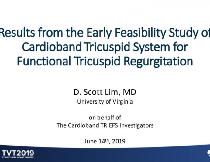 Results From the Early Feasibility Study of Cardioband Tricuspid System for Functional Tricuspid Regurgitation
