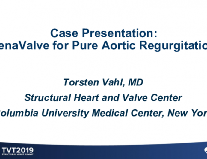 Case: JenaValve for Pure Aortic Regurgitation