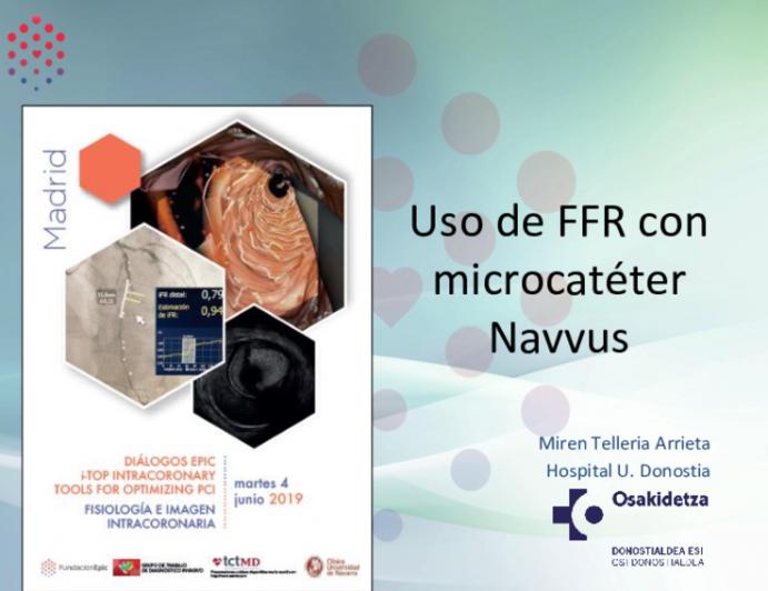 Uso de FFR con microcatéter Navvus