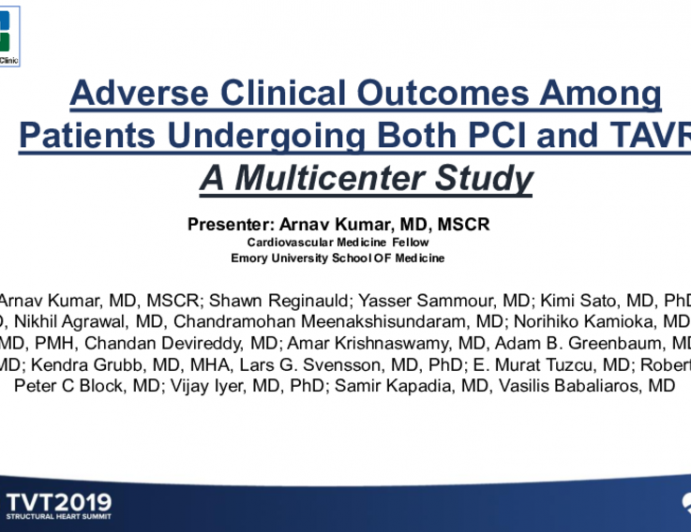 Adverse Clinical Outcomes Among Patients Undergoing Both PCI and TAVR: A Multicenter Analysis
