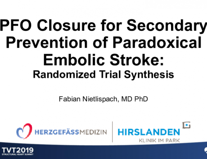 PFO Closure for Secondary Prevention of Paradoxical Embolic Stroke: Randomized Trial Synthesis