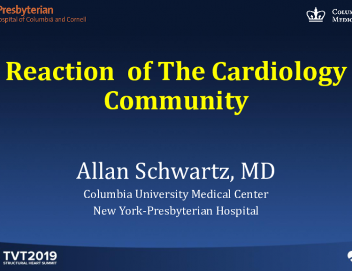 Reactions From the Cardiology Community